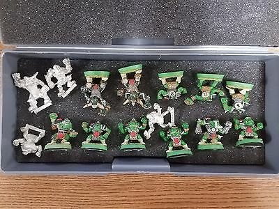Warhammer 40k Blood Bowl Orc Team 15 players partially painted Metal