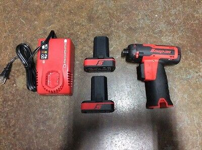 Snap-On 14.4V Cordless Lithium CTS761 Screwdriver w/ 2 CTB8172 Batteries MINT