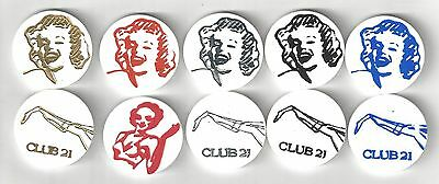 Vintage Club 21 Strip Club Good For Trade Tokens Coin Lot Marilyn Monroe $5 $10