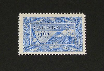 Stamp Pickers Canada 1951 Fishing Resources $1 Mint Scott #302 MNH VF $60+