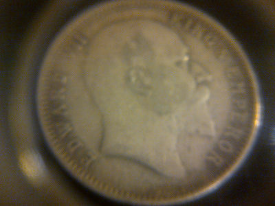 1907 silver one rupee coin