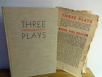 Rare 1934 THREE PLAYS by John Dos Passos GARBAGE MAN; AIRWAYS; FORTUNE HEIGHTS