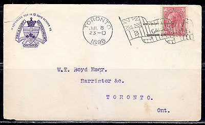 Postal History, Flag Cancel B, 1898, Toronto, ON