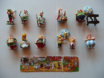 sorprese kinder ASTERIX serie completa +cartina germania +box