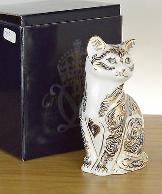 """Royal Crown Derby """"MAJESTIC CAT"""" Boxed Lt Ed 149/3500 with Certificate"""