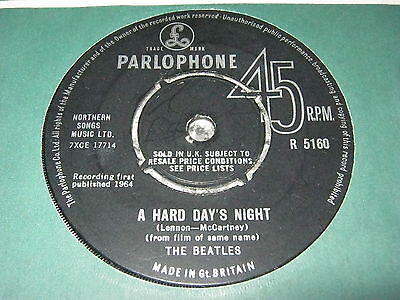 The Beatles - A Hard Day`s Night 1964 1st Press UK Parlophone 45rpm