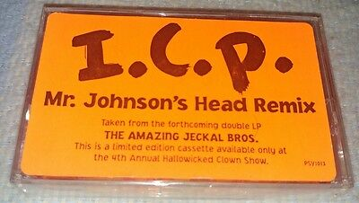 Rare Sealed Icp Insane Clown Posse Mr. Johnson's Head Cassette Tape Hallowicked