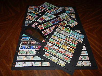 Bahamas stamps - HUGE lot of 261 mint hinged and used early stamps - super !!