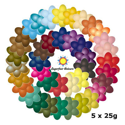 5 x 25g Sugarflair Concentrated Edible Paste Gel Food Colouring for Cake Icing