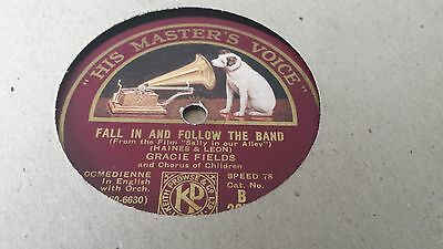 Gracie Fields Fall In And Follow The Band & Sally Hmv B3879