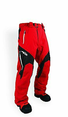 HMK PEAK 2 MENS SNOW SNOWMOBILE WATERPROOF RIDING PANTS RED (Large)