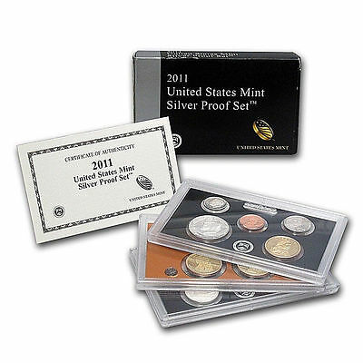 2011 United States Mint SILVER Proof Set w/ Box and CoA