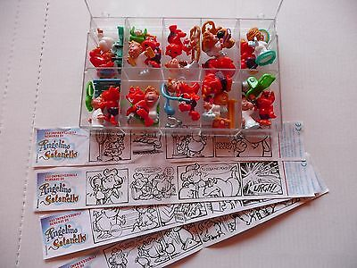 sorprese kinder ANGELINO & SATANELLO serie completa +4 cartine +box