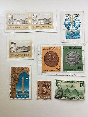 Selection of used stamps, middle east and others