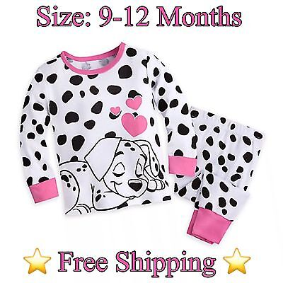 ⭐️NEW⭐️ Disney 101 Dalmations Baby Girl's (2) PC Pajama Set Size: 9-12 Months