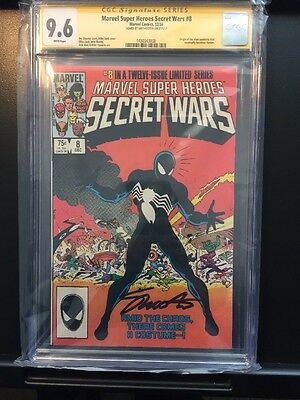 Marvel Super Heroes Secret Wars #8 CGC SS 9.6 Signed 1984 White Page! ASM #300!