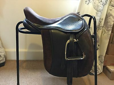 16.5 Inch Wide Silhouette Show / Working Hunter Havana Part Suede Saddle