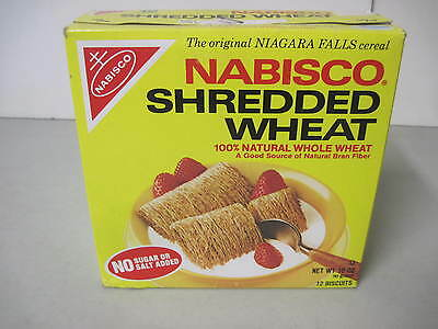 1983 Nabisco Shredded Wheat Empty Cereal Box