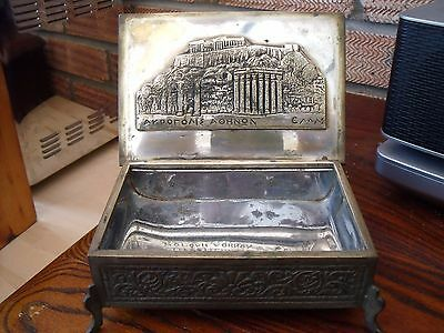 Greek Silver Plated Box ~ Cigarette Box or Jewellery Box