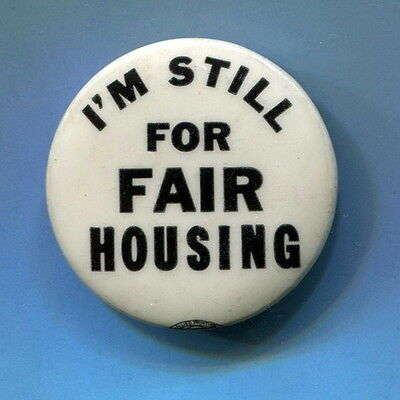 1964 - 65  CIVIL RIGHTS CALIF. PROP 14 HOUSING DISCRIMINATION  Protest Cause Pin