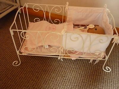 Zapf Baby Annabell Metal Bed with Bedding