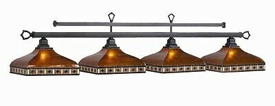 Pool Billiard Table Light Tahoe Amber Mica 4 Shades TAH-B78 w/ FREE Shipping