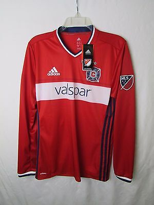 Chicago Fire Adidas Men's S, M Long Sleeve Adizero Authentic Jersey A9