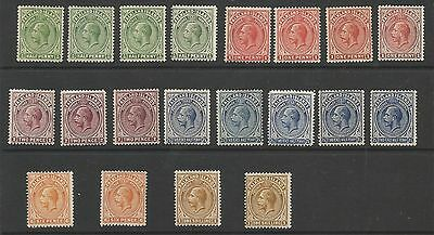 Falkland Is Between Sg60-5 The 1912-20 Gv Set To 1/- Inc Many Shades Ect C.£500+