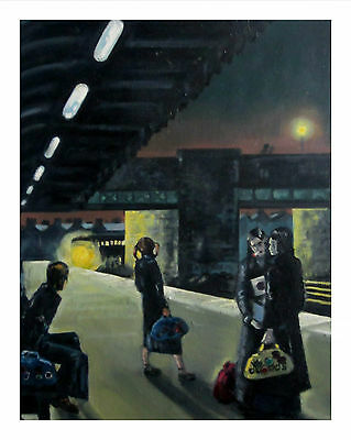 Northern Soul; Northern Soul Art; Neil Thompson paintings, Come on Train