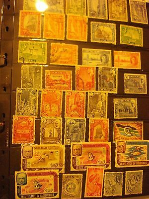 Aden (Yemen) Valuable Used Collection of Stamps - 6 Scans