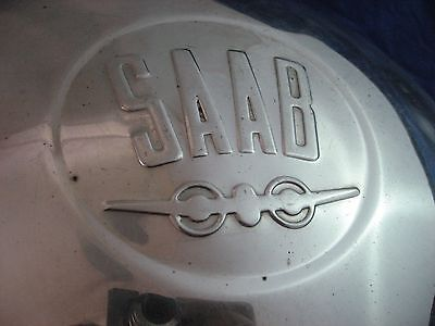 Vintage Saab Hubcap Lot Of 3 Rare Wwii Airplane Design