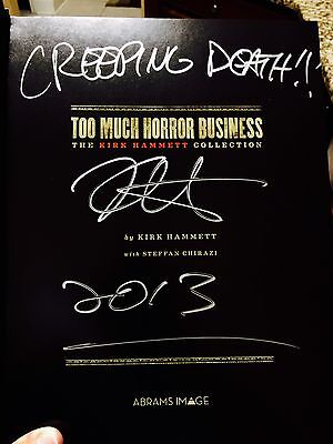 Metallica Kirk Hammet Signed Book With Proof Too Much Horror Business