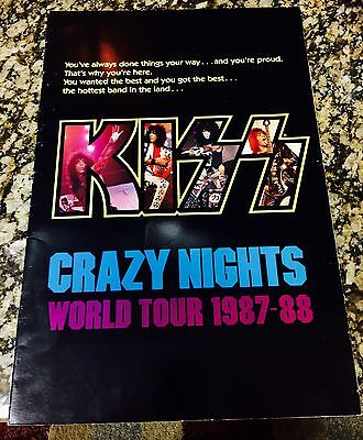 Kiss Crazy Nights Tourbook Program Signed By Gene And Paul