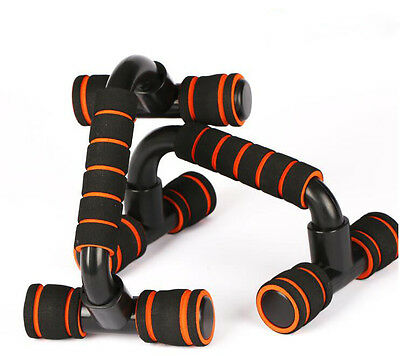 New 2x Pull Up Stand Bars Home Exercise Workout Gym Chest Foam Handles Fitness
