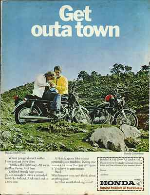 ONE ONLY CB350 & CB500/4 AD/POSTER HRC KO 250 500 four
