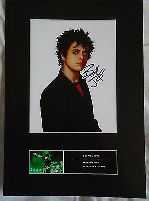 Green Day Lead Singer Billie Joe Armstrong A4 Signed Print