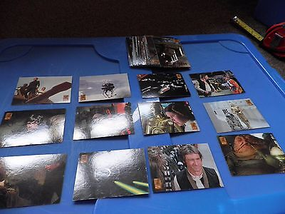 Star Wars Trilogy Merlin Collectors Cards (circa 1997), Lot of approx 47 Cards