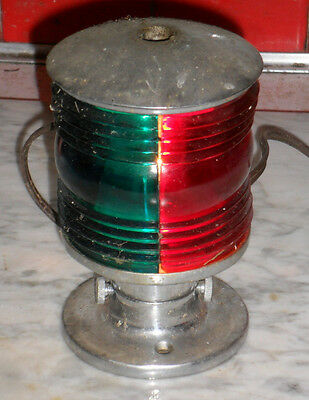 Vintage Nautical Electric Boat Light Red Green Maybe from Criss  Craft