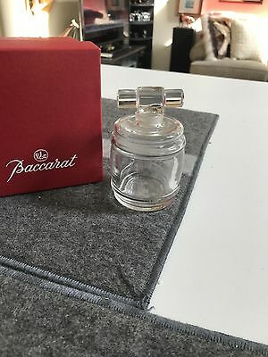 "SUPERB 3 1/2"" Baccarat France FRENCH CRYSTAL PERFUME BOTTLE with KEG STOPPER MIB"