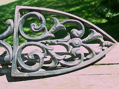 "Vintage Cast Iron 8-3/4"" 3-footed Trivet - MARKED ON BACK"