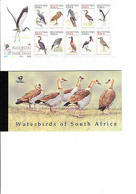 South Africa booklet MUH issue  waterbirds