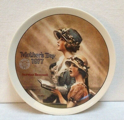 1977 Norman Rockwell Mother's Day Collector Plate ~ Faith ~ Knowles