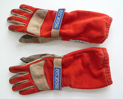 Sparco Super Pro Race Racing Driving Gloves Red Size 8 Small ISO 6940/ FiA 86