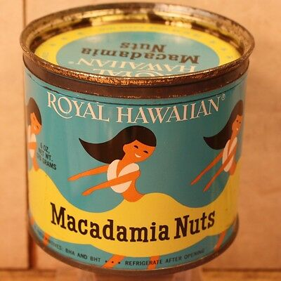 used Royal Hawaiian Macadamia nuts TIN