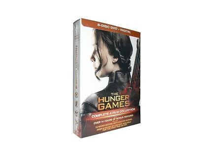 The Hunger Games Complete 4-Film Collection (DVD, 2016, 8-Disc Set) NEW