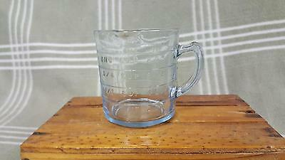 Vintage Fire King Glass Oven Ware Sapphire Blue 1 Cup Measuring Cup