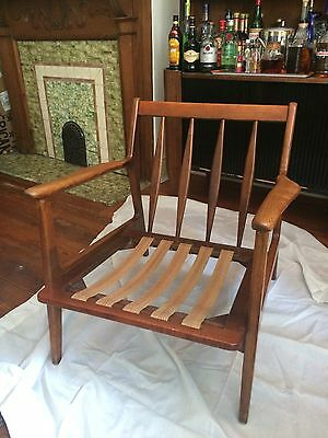 Baumritter Lounge Chair MCM wood Danish Modern SIGNED