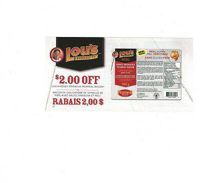 COUPONS - Save 8 x $2 on Lou's Honey Peameal Bacon - Canada ONLY