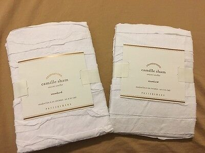 Pottery Barn Camille Standard Sham - Set Of Two - Brand New