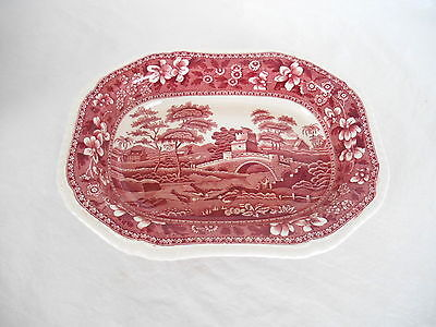 "Vintage COPELAND SPODE'S TOWER RED 10"" SERVING BOWL"